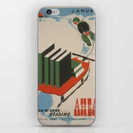 Vintage poster -  A Year of Good Reading Ahead iPhone Skin