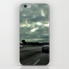 Clouds on the freeway. iPhone & iPod Skin