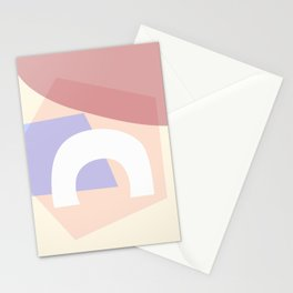 Sunny Side - Light Pastel Abstract Minimalism Yellow Blue Stationery Cards