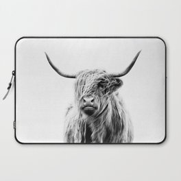 portrait of a highland cow (horizontal by request) Laptop Sleeve