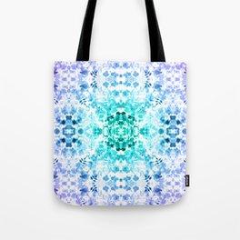 Floral Print - Teal & Purple Tote Bag