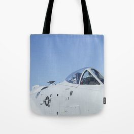 A10 A-10 Thunderbolt Warthog Military Aircraft/Airplane Detail USAF Tote Bag