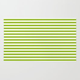 Apple Green & White Maritime Small Stripes- Mix & Match with Simplicity of Life Rug