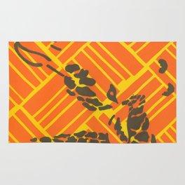 Screenprinted Giraffe Rug