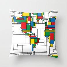 World Map - Modern Throw Pillow