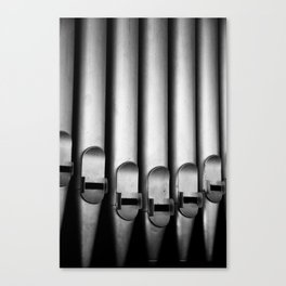 Organ pipes black and white photography Canvas Print