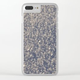 Snow crystals winter Clear iPhone Case