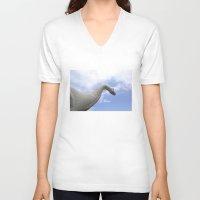 dinosaur V-neck T-shirts featuring Dinosaur by Jeff Harmon Photography