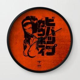 059 Faye Blk Jap Wall Clock