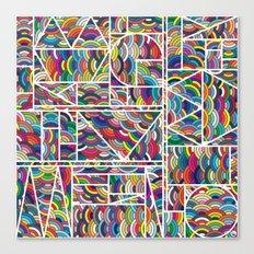 Kaku Technicolor Canvas Print