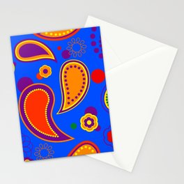 Gay Pride Mixed Paisley Pattern Stationery Cards