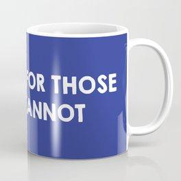 I protest for those who cannot - purple Coffee Mug