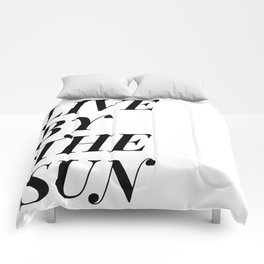 live by the sun love by the moon (1 of 2) Comforters
