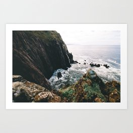 Cliffs to the Sea    Oregon Coast Art Print