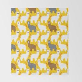 The Alpacas Throw Blanket