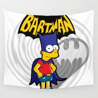 simpson Wall Tapestries featuring Bartman: the simpsons superheroes by logoloco