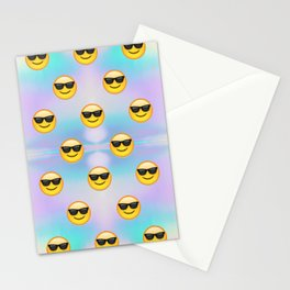 Sunglasses Emoji Pastel Stationery Cards