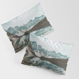 Moraine Lake Mountain Reflection Summer Pillow Sham