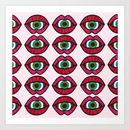 Surreal Lips Art Print