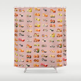 Sushi Set Shower Curtain