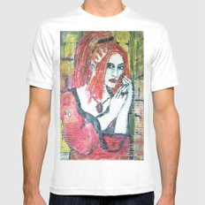 RED HOT GOTH CHICK MEDIUM White Mens Fitted Tee
