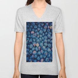 Blueberries Unisex V-Neck