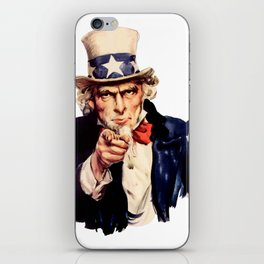 Uncle Sam Pointing Finger iPhone Skin