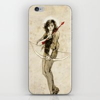 kendrawcandraw iPhone & iPod Skins featuring This angelic beating girl by kendrawcandraw