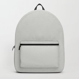 Light Grey - Pastel Gray Neutral Off-white Solid Color Parable to Valspar Seashell Gray 4003-1A Backpack
