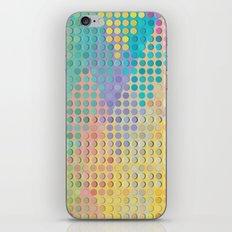 Colorful diamond hole punch iPhone & iPod Skin
