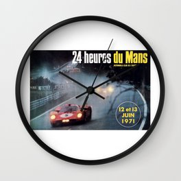 Le Mans 1972, race poster, car poster Wall Clock