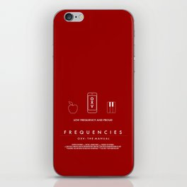 FREQUENCIES LOW FREQUENCY (ZAK - RED) CHARACTER POSTER iPhone Skin