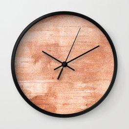 Burly wood hand-drawn aquarelle Wall Clock