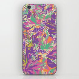 Tropical summer rainforest party iPhone Skin