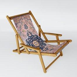 Sarouk  Antique West Persian Rug Print Sling Chair