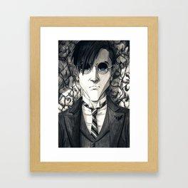 Je vois la vie en Noir (ver2) Framed Art Print