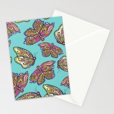 heart and butterflies Stationery Cards