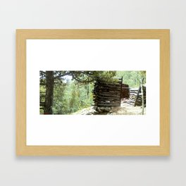 Colorado Gold Rush Mine and Cabin, No. 3 of 3 Framed Art Print