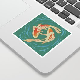 Twin Koi II Sticker