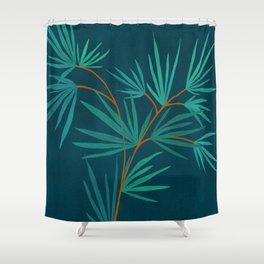 Night Palm / Night Scene Series Shower Curtain