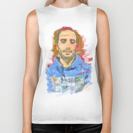 watercolor of the author's colors Biker Tank