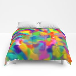 "Rainbow ""Watercolor"" Comforters"