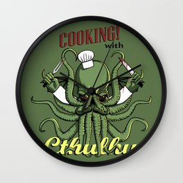 Cooking! with Cthulhu Wall Clock