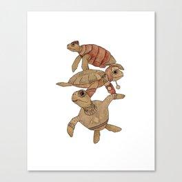Winter Sea Turtles Canvas Print
