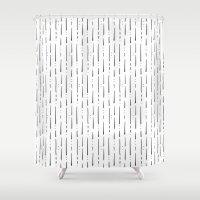 stripe Shower Curtains featuring Stripe  by Steffen Remter