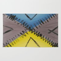 road Area & Throw Rugs featuring Road by Guilherme Poletti