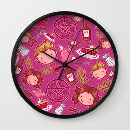 Moose and Squirrel Bros pattern Wall Clock