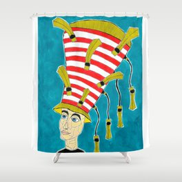 1920's English Cloche Shower Curtain