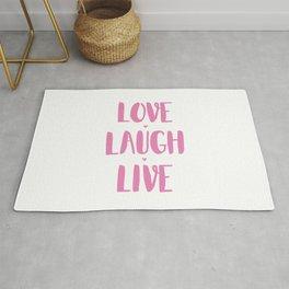 Love.Laugh.Live Rug