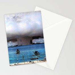 Bikini Atoll Nuclear Test, 1946 Pacific Ocean in color photograph / photography Stationery Cards